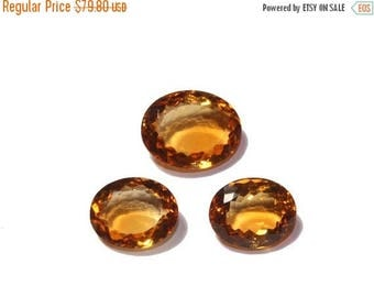 55% OFF SALE 3 Pcs Set AAA Natural Citrine Faceted Oval Cut Gemstones 13x11 - 15x12mm Match Pair & a Focal Pendant- Citrine Trio Ct16