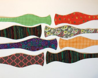 Sunday West - boys teen self-tie bow tie - L large 14 years up flowers checks trees - ready to ship - free shipping