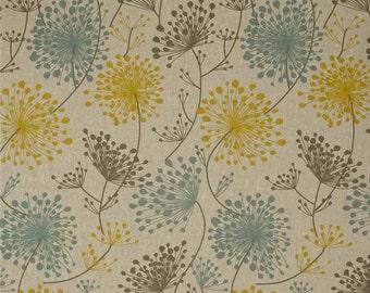 Blue, Yellow, Grey, Natural Drapery Panels - Pair/ 2 Panels - Premier Prints Irish Daisy Laken Collins Fabric