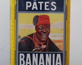 Vintage French Banania tin, PATES