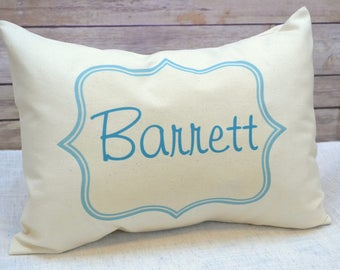 Personalized pillow, baby gift, boys pillow,Children's pillow, Newborn gift, name pillow, teal personalized pillow  Custom pillow, baby name