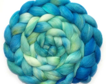 Polwarth Mohair Silk Combed Top Roving - Riverside, 5.1 oz.