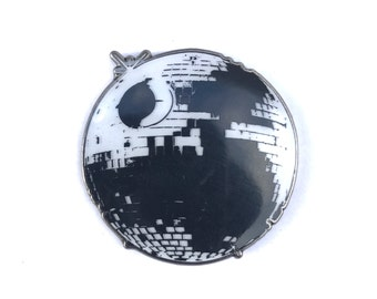 Limited edtion Disco Deathstar glow in the dark enamel hat pin, only 50 made