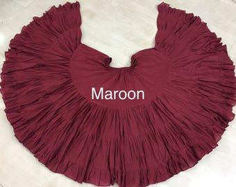 Maroon Cotton 32 yd Skirt ATS SCA BellyDance Best Quality