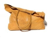 Imperial Yellow Buttered Soft Large Tote Bag