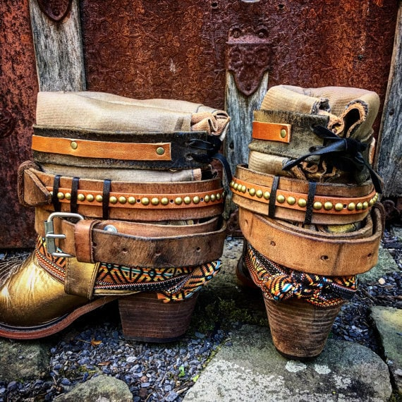 Custom Reworked Luxury Jones Festival Boots, Choose your decorations ~ Send me your favorite cowboy boots to rework ~ Made To Order