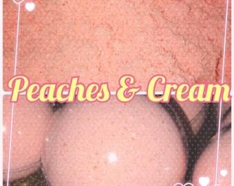 Cutie Bath Bomb Peaches And Cream, Ready To Ship