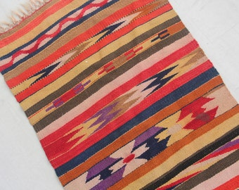 Kilim Area Rug Runner - 6.5 feet x 2 feet