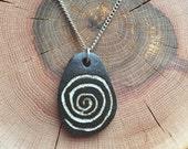 Fertility Spiral Necklace, Ceramic