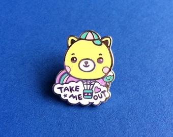 Take me out Bear Air-Balloon Hard Enamel Pin