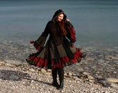 Sassafras Large wool free frankensweater upcycled recycled gypsy coat sweater 143