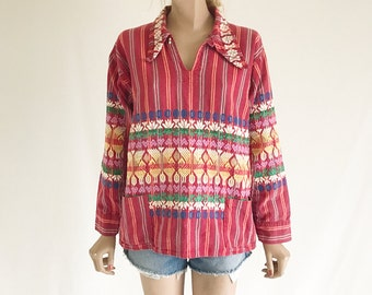 Vintage Guatemalan Embroidered Blouse