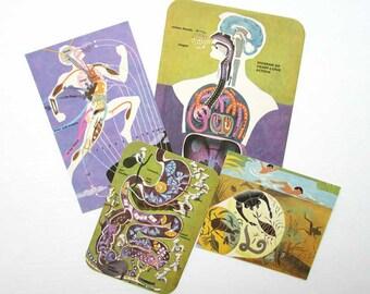 Vintage 1950's Mid Century Medical Design Illustrations, Prints, Cards, Human Body, Anatomy, Health, Medical, Scrapbooks, Paper Ephemera