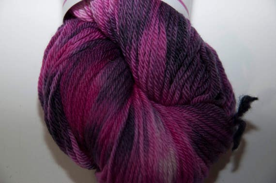 Hand-Dyed Mixed Berries Colourway DK Yarn Merino Squishy Base