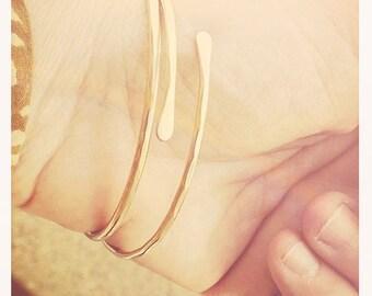 Pair of Bonnie Bracelets in solid 14K