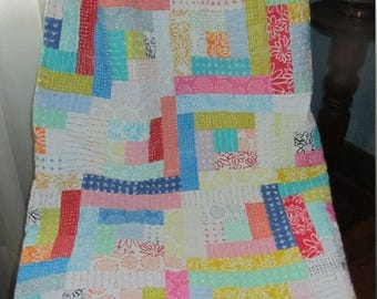Blueberry Park Quilt - Baby Girl, Toddler, Crib - Larger Big Sister or Mom Size also Available in my Shop - Karen Lewis Textiles