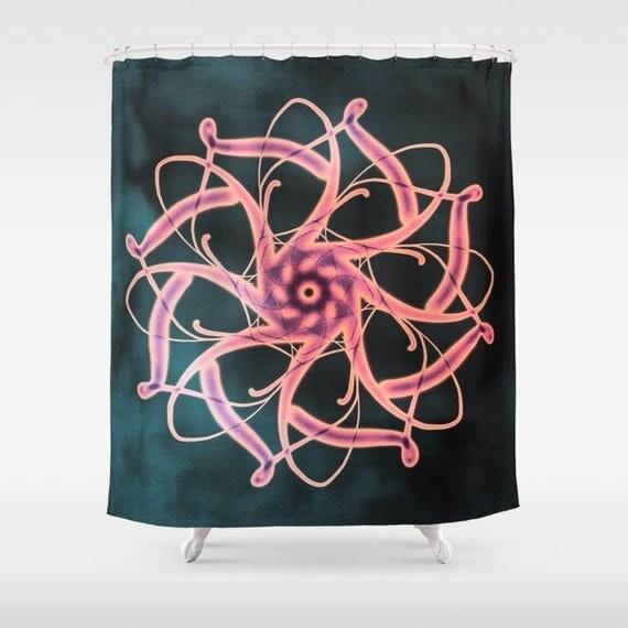 MANDALA Celtic Shower Curtain, Dorm Bathroom, Modern Home Decor, Hindu Symbol Shower Curtain,Buddhism Symbol Sower Curtain, Teen Bathroom