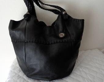 The Sak  bag,large slouchy tote ,satchel  purse   genuine buttery soft leather black vintage awesome unique