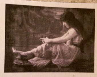 """Vintage fusible female image approx. 2""""x3"""""""