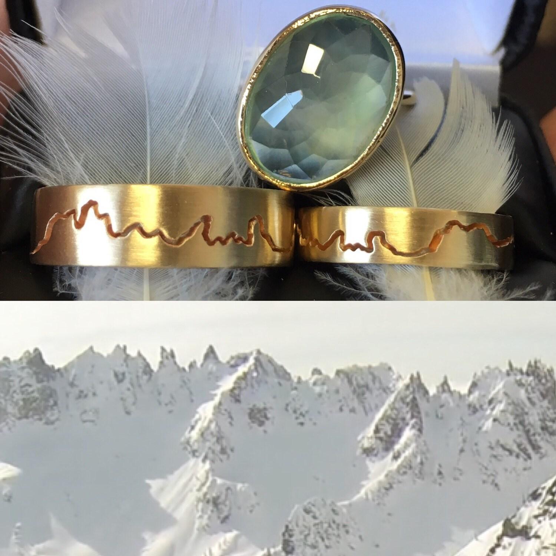 calcedonia aqua anillo cocktail hechos a mano con reciclado k oro amarillo y plata esterlina anillo de piedras preciosas grande anillo de declaracin