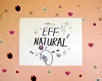 Eff Natural Print by Aurora Lady