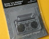 Sale: Boom Box Acrylic Clear Stamp