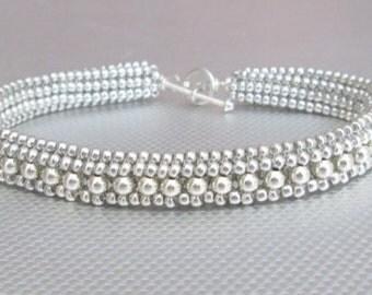 sterling silver beaded bracelet beaded jewelry
