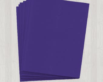 100 Sheets of Text Paper - Purple - DIY Invitations - Paper for Weddings & Other Events