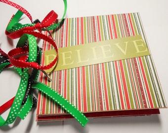 Christmas Mini Scrapbook Album, Christmas Mini Album, Christmas Brag Book, Christmas Photo Album, Christmas Scrapbook, Christmas