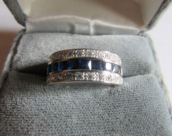 Sapphire band ring