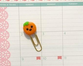 Orange Planner Clip Accessory