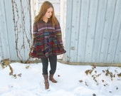 Lg OOAK Fair Isle Reconstructed Multi Colored Sweater// Altered Clothing// Winter// Upcycled Recycled// emmevielle