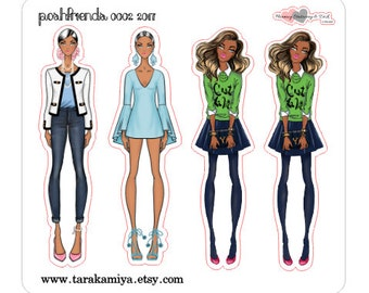 Posh Friends 2 Planner Stickers Dolls Deco Stickers