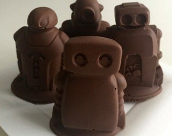 Chocolate 3D Robots - 1 Dozen Solid Chocolate Robots