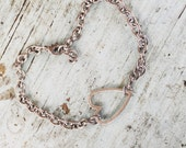 Open Link Bracelet Sterling Silver Open Heart Bracelet Valentines Day perfect Gift Love You More Heart
