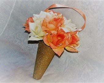 Wedding aisle Decoration cone church pew decoration