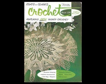 Coats and Clark's Crochet Book 516 - Featuring New Woven Crochet - Vintage Booklet c. 1957 - Coats & Clark's O.N.T. Threads - Pattern Book