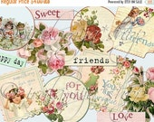 SALE BITS and PIECES Collage Digital Images -printable download file-