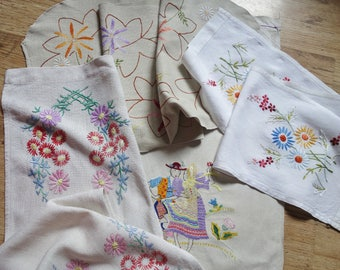 collection hand embroidered runners and mat