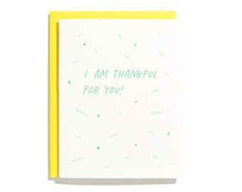 Thankful For You - Letterpress Thank You Card - CT222