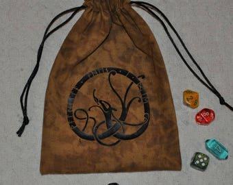 Viking Valhalla When I die rune dice bag
