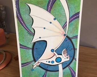 Ghost Bat as Totem - Original Art