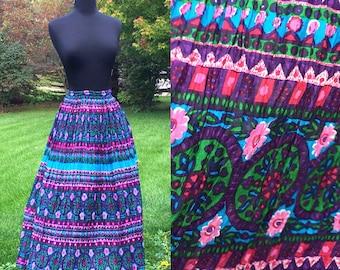 Day Dreamer 70s Bohemian Skirt Draw String Waist