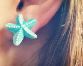 By The Sea Ceramic Star Fish Post Earrings
