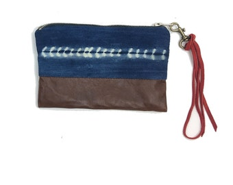 African Indigo Mudcloth Wristlet | STARLAND