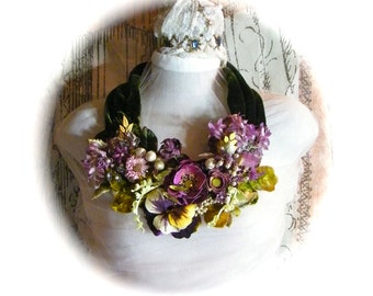 Forest Magic silk velvet statement in florals