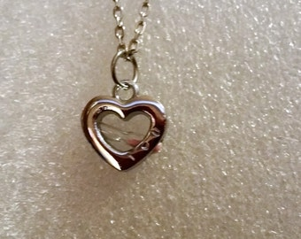 Hour Glass Charm  Till the end of time heart hour glass charm necklace