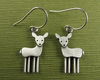 Tiny deer earrings