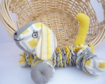Yo Yo Puppy dog  fabric quilt nursery toy decor