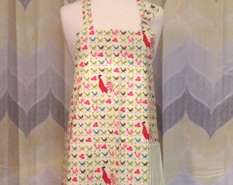 Rooster Print Kitchen Apron - Free or Priority Shipping